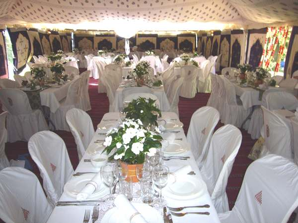 Indian tent hire them day time dining tables & INDIAN THEMED TENT HIRE
