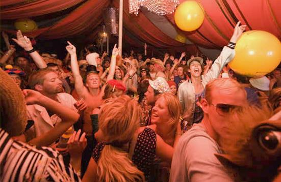 Bestival event Isle of Wight mouling rouge tent hire