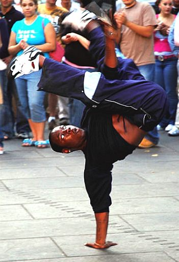 B Boy break dancer